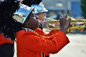 charleston gazette mail photo essay ing to honor veterans jonathon varnado a sophomore at south charleston high school plays the trumpet while ing in the parade during which the band performed many