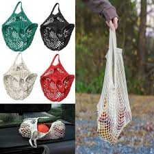 Reusable <b>Mesh</b> Net Turtle String <b>Shopping Bag Durable</b> Fruit ...
