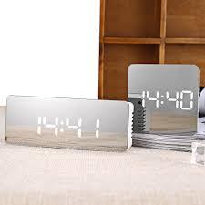 <b>Fashion</b> Noiseless <b>LED Mirror Digital</b> Time Temperature Display ...