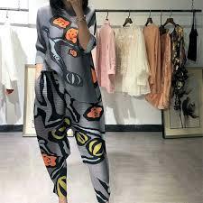 MIYAKE suit 2018 women's <b>summer new style</b> folds fashion <b>Europe</b> ...