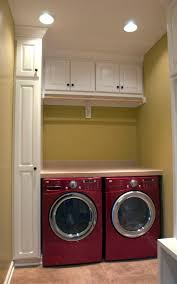 set cabinet full mini summer: impressive design for contemporary laundry room with small lamps and red modern washing machine and pastel wall color and small top cabinets our washer and