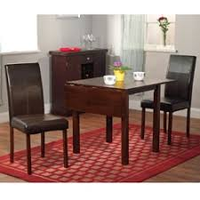 three piece dining set: simple living bettega drop leaf  piece dining set