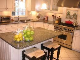 Granite Tile Kitchen Classic Kitchen Island Design The Middle With Dark Grey Granite