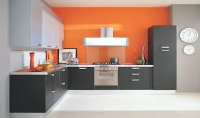 modular kitchen colors: innovative small modular kitchen decor inspirations bright colorful lshaped small modular kitchen design with grey and black kitchen cabinets and