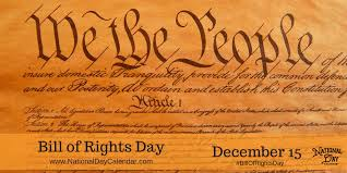 BILL OF RIGHTS DAY - December 15 - National Day Calendar