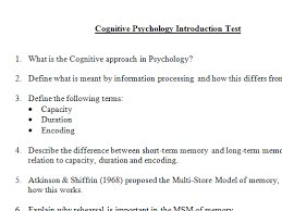 Theories of Forgetting in Cognitive Psychology by mandarmstrong     TES Cognitive Approach in Psychology   End of topic of test