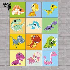CH Diy Oil Painting Paint By Cartoon <b>Dinosaur</b> For Kids | Shopee ...