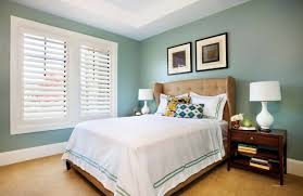Image result for blue bedroom with plantation shutters