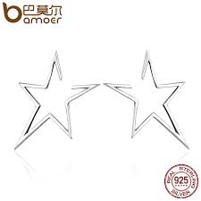 BAMOER <b>New</b> Arrival Authentic <b>925 Sterling Silver</b> Exquisite Star ...