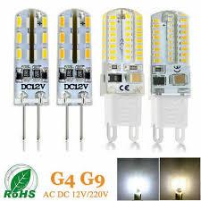 <b>10pcs</b>/<b>Lot G4 G9</b> LED Corn Bulb SMD 3014 Silicone Crystal Spot ...