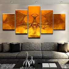 HENANFSLY <b>Modular</b> Hd Prints <b>Pictures</b> Home Decoration <b>5 Pieces</b> ...