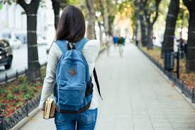 what are your options a student carrying books walks to university