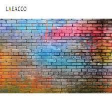 <b>Laeacco Colorful Brick</b> Wall Grunge Portrait Baby Pet Photography ...