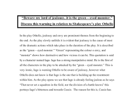 jealousy in othello criticism essays