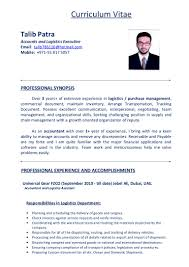 talib patra cv of logistics