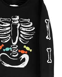 <b>Glow-In-The-Dark</b> Halloween Skeleton Tee | carters.com