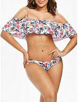 Generic HL <b>Cold Shoulder Flower Bikini</b> Set (White) (M, L, XL) price ...