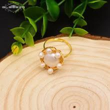 GLSEEVO натуральный пресноводный барокко <b>белые кольца с</b> ...