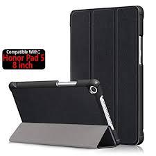 TASLAR PU Leather Slim <b>Case Tri</b>-<b>Fold Stand</b> Magnetic Lock Flip ...