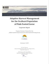 publications aewa international working group adaptive harvest management cooperator report front cover