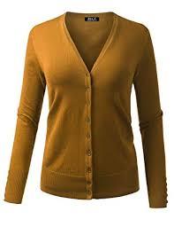 BH B.I.L.Y <b>USA Women's V-Neck</b> Button Down Long Sleeve Classic ...