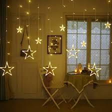 Buy Quace 12 <b>Stars</b> 138 <b>LED</b> Curtain <b>String</b> Lights, Window Curtain ...