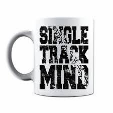 Single Track Mind <b>MTB Mountain Bike</b> Downhill <b>Skull</b> Cycling Coffee ...