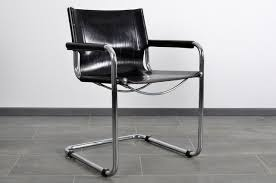 Leather <b>Cantilever Dining Chairs</b> from Fasem, 1980s, Set of <b>4 for</b> ...