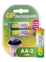 <b>Аккумуляторы</b> NiMH 1300mAh <b>130AAHC</b>-2DECRC2 <b>GP</b> 4228187 в ...