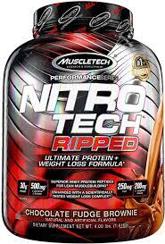 Muscletech Performance Series <b>Nitro</b>-<b>Tech Ripped</b> Supplement, 4 ...