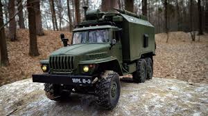 Грузовик WPL B36 Ural 1/16 2.4G 6WD Обзор Тест-Драйв - YouTube