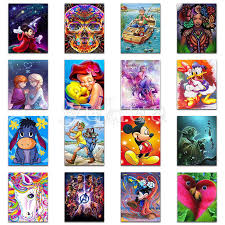 <b>5D</b> DIY <b>Diamond</b> painting Cross stitch <b>Cartoon</b> Full Square <b>Diamond</b> ...