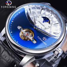 <b>Forsining</b> Royal <b>Tourbillon</b> Blue Automatic Men Watch <b>Mechanical</b> ...