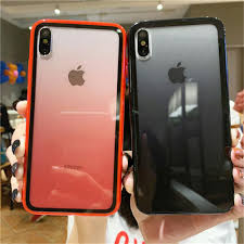 <b>Fashion</b> Transparent Gradient Color Clear <b>Acrylic</b> Cell <b>Phone</b> Case ...