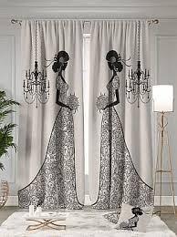 Купить комплект штор «Триуми» бежевый, серый/черный по ...