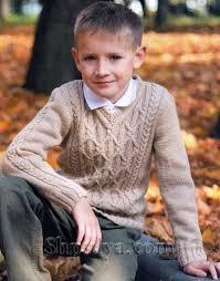 <b>Пуловер</b> аранами для мальчика, вязаный спицами | Вязание ...