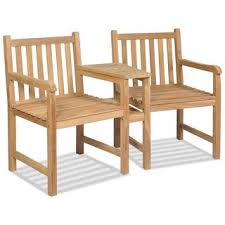 vidaXL <b>2 pc</b> Teak Wood Dining Arm <b>Chair</b> Outdoor Garden Patio ...