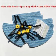 <b>Vacuum</b> Robotic <b>Cleaner</b> Parts (<b>6pcs</b> side brush+3pcs mop cloth+ ...