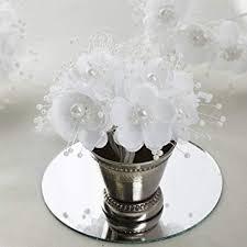 BalsaCircle 72 White <b>Faux Pearl</b> Craft <b>Beaded Flowers</b>