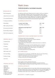 administration cv template administrative cvs administrator targeted at a administrative assistant job