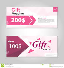 green pink gift voucher template colorful pattern cute gift cute pink gift voucher template layout design set certificate discount coupon pattern for shopping stock