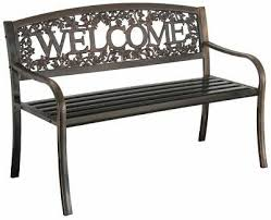 NEW <b>Welcome</b> Outdoor Garden Bench Park Lawn Patio <b>Furniture</b> ...