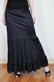 Slip Extender <b>Black Long</b> Tiered Ruffle <b>Bridal Petticoat</b> Slip | Etsy