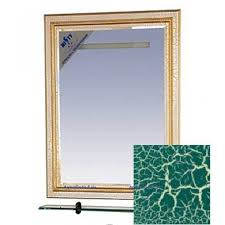 <b>Зеркало с полочкой Misty</b> Fresko краколет 90 см зеленое, патина ...