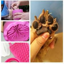 <b>1PC Dog</b> Paw Cleaner Cup <b>Soft Silicone</b> Combs Portable Outdoor ...