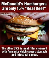 Facebook meme claims McDonald's burgers are made with 85 percent ... via Relatably.com