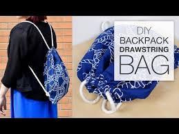 DIY Backpack <b>Drawstring Bag</b> Tutorial - YouTube