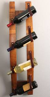 hairpin console table idea leather straps versatile repurposed oak wine stave hanging wine rack baumhaus wine rack lamp table