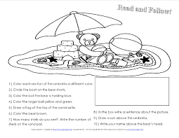 a beach unit beach lessons links ideas and more for the following directions for summer reading comprehension