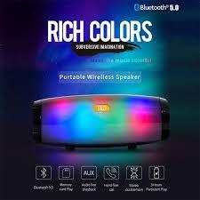 <b>TG165 Portable</b> LED Wireless <b>Bluetooth</b> 5.0 <b>Speaker</b> Stereo ...